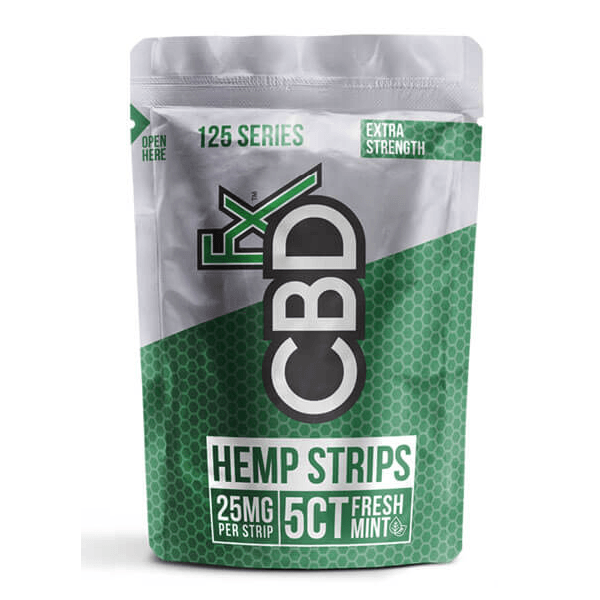 CBDfx Fresh Mint Hemp Strips 125mg - 5ct