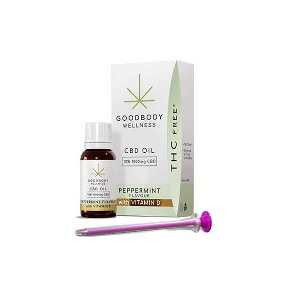 GoodBody Wellness CBD Oil Peppermint with Vitamin D - 10ml