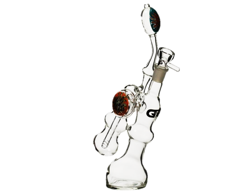 Grace Glass Bubbler W/Diffuser Painted Design- 30cm