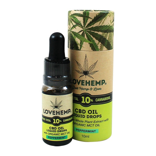 Love Hemp CBD Oil Peppermint 1000mg (10%) - 10ml