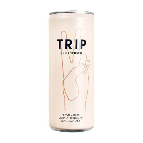 Trip CBD Infused Drink Peach Ginger Lightly Sparkling 15mg - 250ml