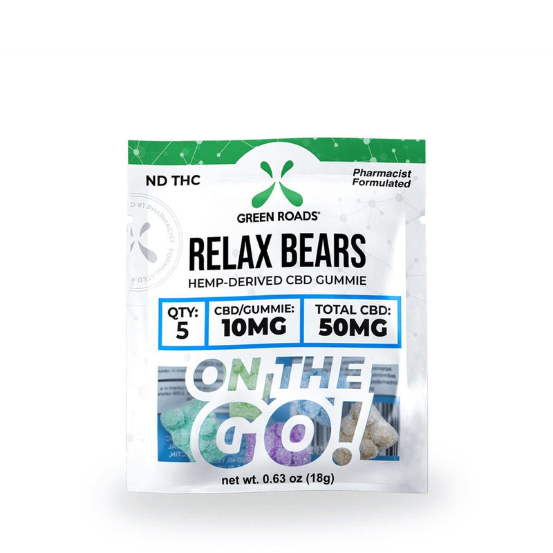 Green Roads Gummies On the GO! Relax Bears 50mg - 5pcs