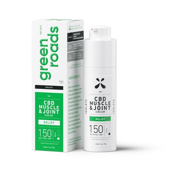 Green Roads Isolate CBD Muscle & Joint Relief Cream 150mg - 30g