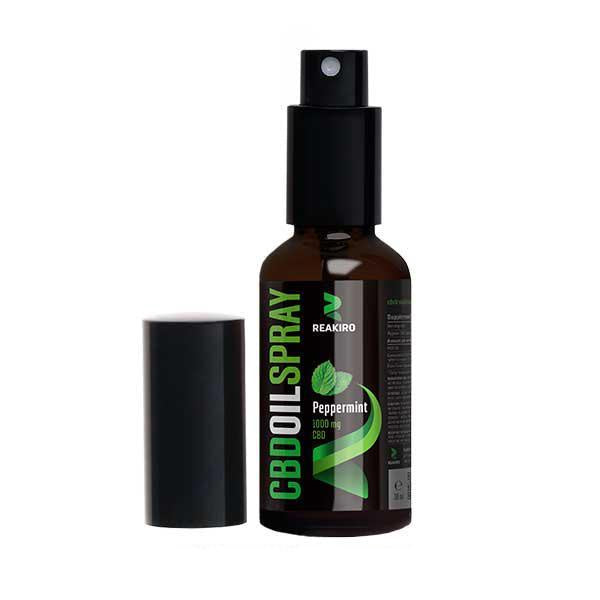 Reakiro CBD Oil Spray Peppermint 300mg - 30ml