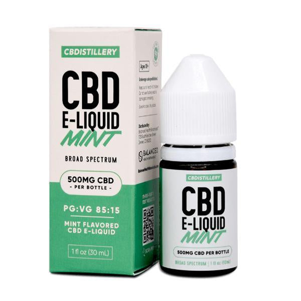 CBDistillery CBD E-Liquid Broad Spectrum Mint 500mg - 30ml