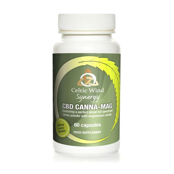 Celtic Wind Synergy CBD Canna-Mag Capsules 600mg - 60ct