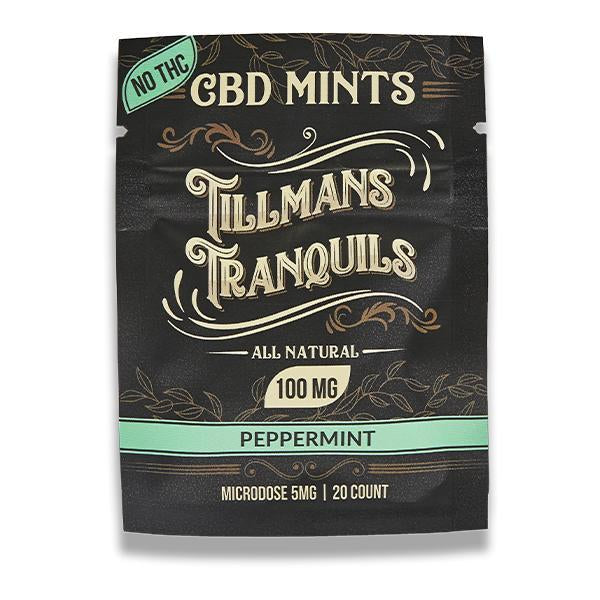 TILLMANS TRANQUILS CBD MINTS PEPPERMINT 5MG - 100MG