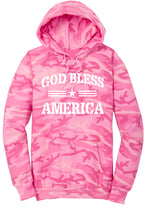Load image into Gallery viewer, God Bless America Camo Hoodie