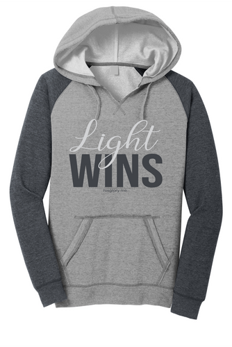 Light Wins Ladies Colorblock Hoodie