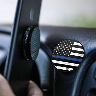 Anywhere Magnet Phone Mount and Stand Police Thin Blue Line