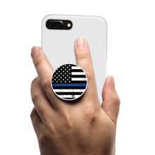 Load image into Gallery viewer, All in One Phone Grip Mount and Stand Police Flag Blue Line