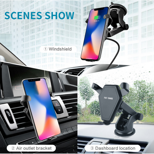 Car Mount Wireless Charger and Holder