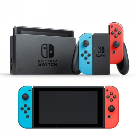 Nintendo Switch with Neon Blue/Neon Red Joy-Con