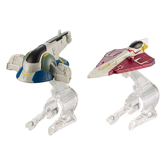 Hot Wheels Star Wars Slave 1 Vs. Jedi Starfighter Starship 2-Pack