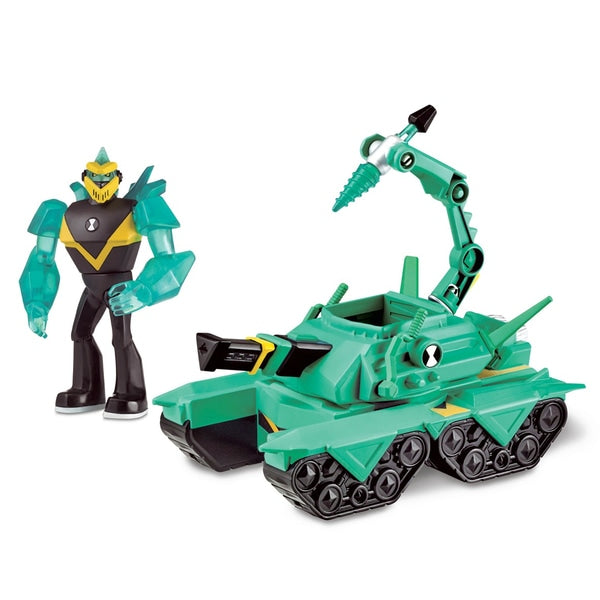 Ben 10 Transforming Vehicle With Figure - Diamond Head Power Tank