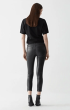 Load image into Gallery viewer, COATED BLACK Skinny 仿皮高腰皮褲
