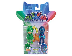 PJ Masks Light Up Gekko and Night Ninja Figure 2 Pack