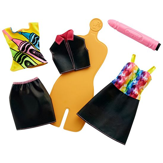 Barbie Crayola Rainbow Design Fashion Set