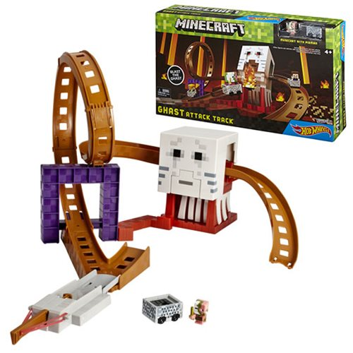 Minecraft Hot Wheels Ghast Attack Track Playset