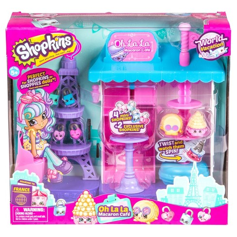 Shopkins Season 8 World Vacation - Oh La La Macaron Cafe Playset