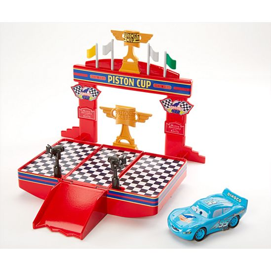 Disney Pixar Cars Wheel Action Drivers Race and Win Playset