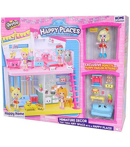 Shopkins Happy Places Puppy Parlor Jessicake and Popette Set