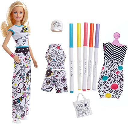 Barbie Crayola Color-In Fashion Doll and Fashions