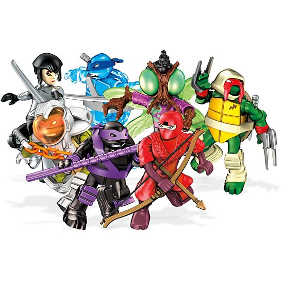 Mega Construx Teenage Mutant Ninja Turtles Micro Action Figures, Red Ninja