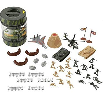 True Heroes Army Playset in Bucket