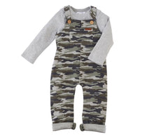 Load image into Gallery viewer, Camo Overall & Shirt Set Mud Pie