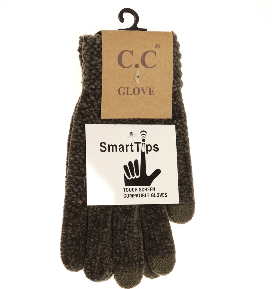 CC New Olive Chenille Gloves