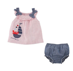 Crab Pinafore and Bloomers
