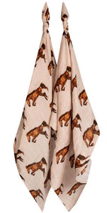 Milkbarn Horse Burp Cloths (2 pack)
