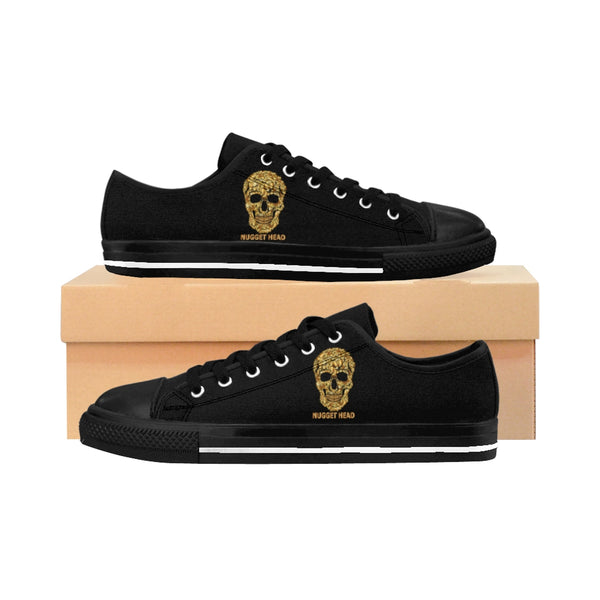 Women's Shoes Sneakers Skull Gold Nugget Head - Borden Fashion