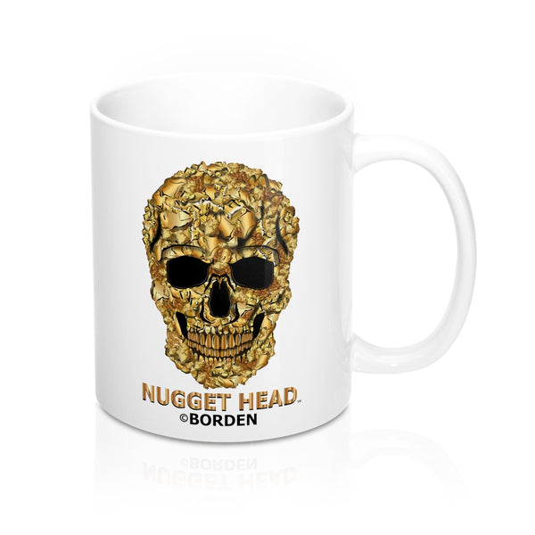Mug 11oz Skull Gold Nugget Head - Borden Fashion