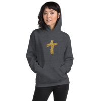 Unisex Hoodie with Cross, Men's Hoodies, Women's Hoodies - Borden Fashion