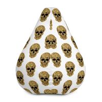 Bean Bag Chair Cover with Nugget Head Skull design - Borden Fashion