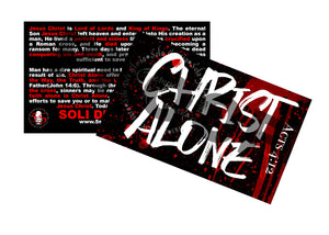 Christ Alone(5x3)100 Count