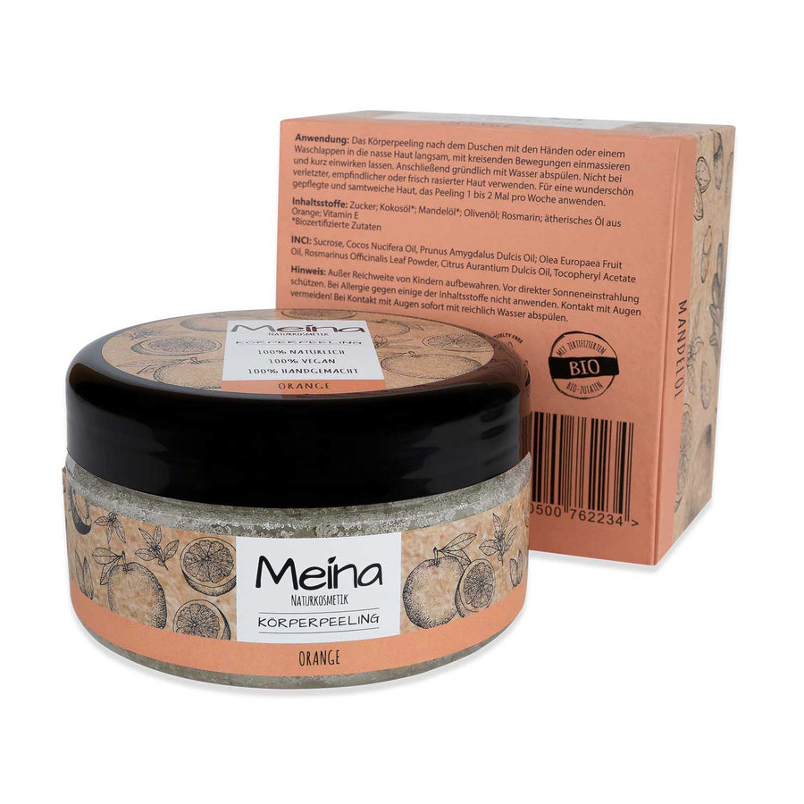 sugar scrub meina orange peeling