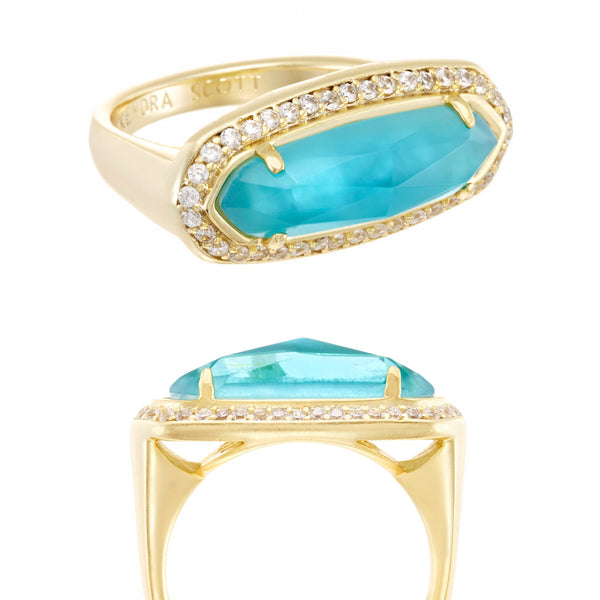 Arielle Ring in London Blue Illusion
