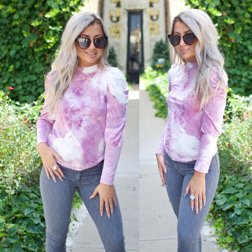 Perfect Catch Top-Lilac