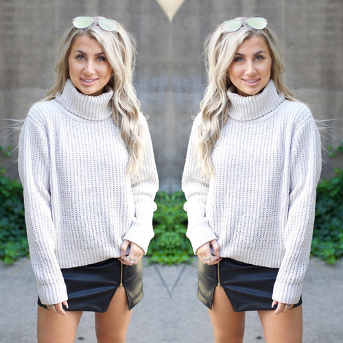 Warm & Cozy Sweater-Taupe