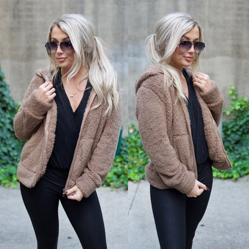 Warmth In You Jacket-Mocha