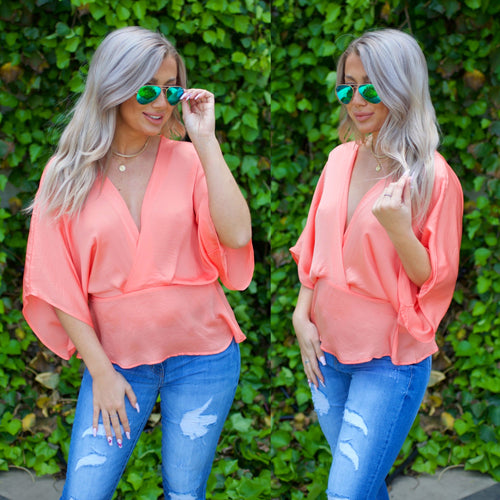 Legacy of Love Top-Coral