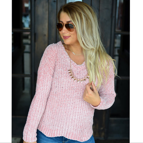 Awestruck Ultra Soft Sweater-Blush