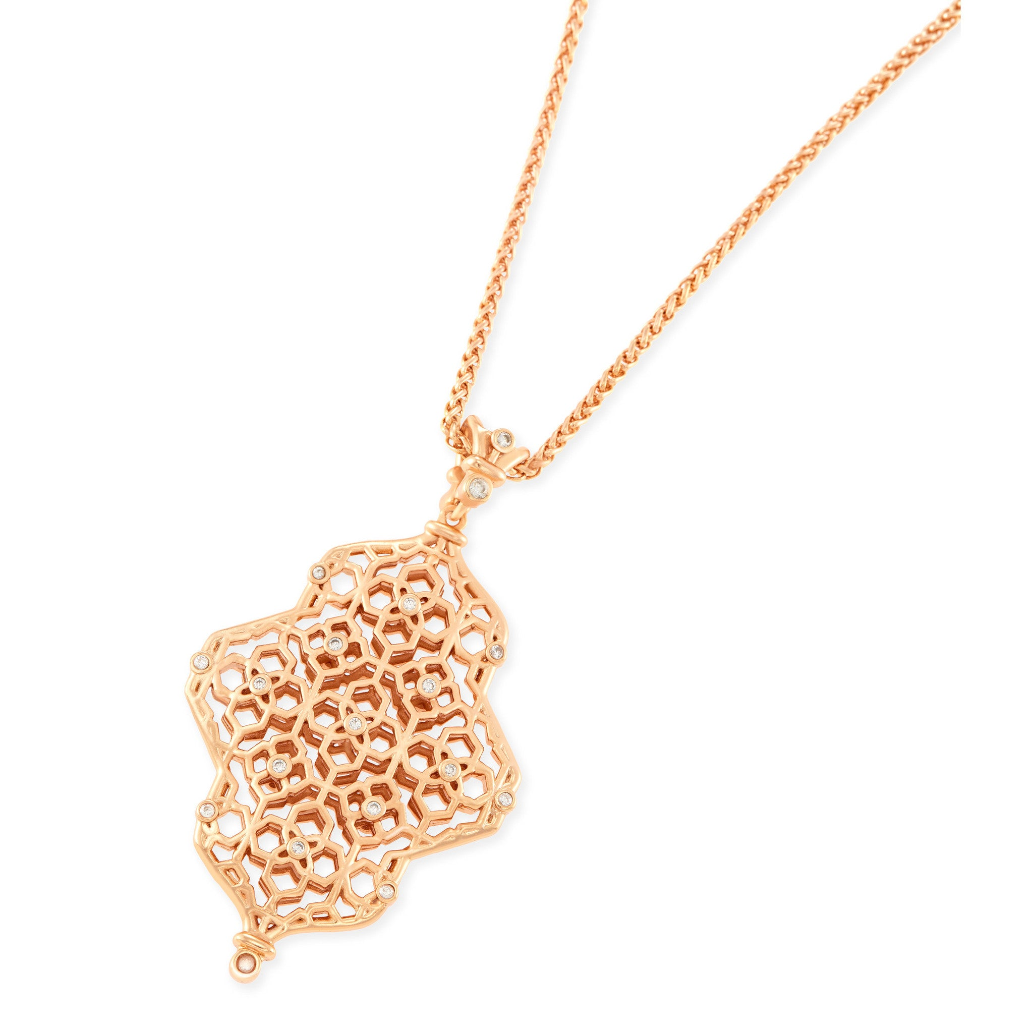 Kathy Long Necklace in Rose Gold