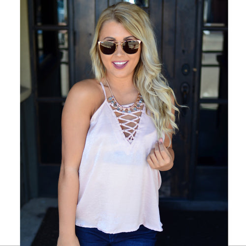 Be Bold Tank-Blush