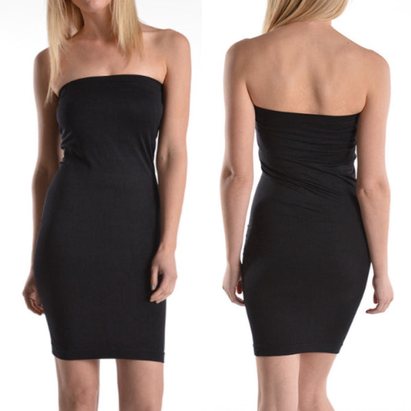 Strapless Cami Dress-Multiple Colors