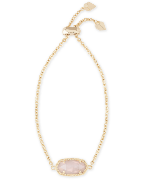 Elaina Adjustable Chain Bracelet in Rose Quartz