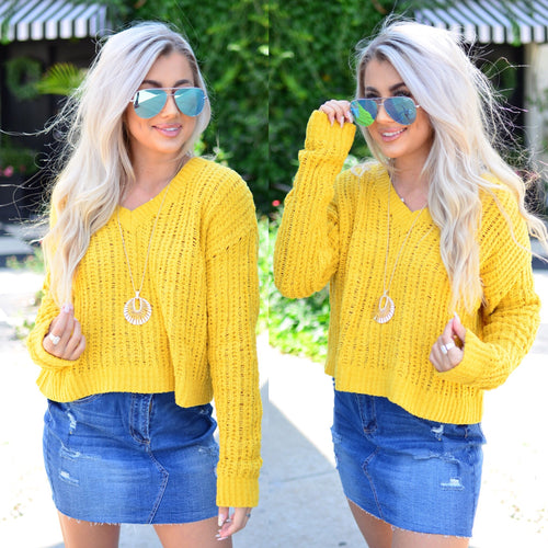 City Streets Sweater- Mustard